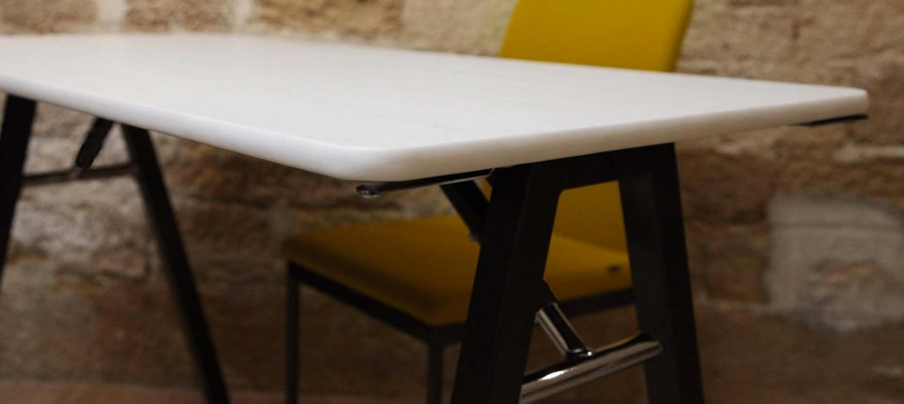 A-fold table and  Evosa chair Hero 2