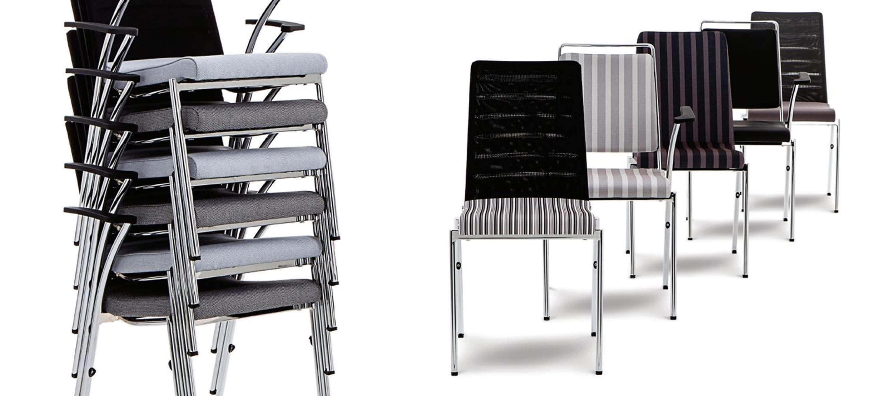 Evosa Congress stacking chairs Hero